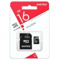 Карта памяти 16Gb Smart buy Micro SD + (адаптер SD) Сlass 10