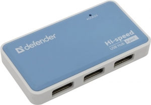 USB - Xaб Defender USB QUADRO POWER USB2.0 4порта,блок питания 2А 83503